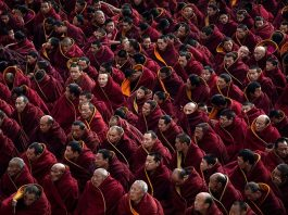 Tibetans-Buddhist Monks