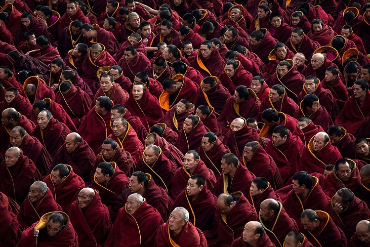 Tibetans-Buddhist Monks