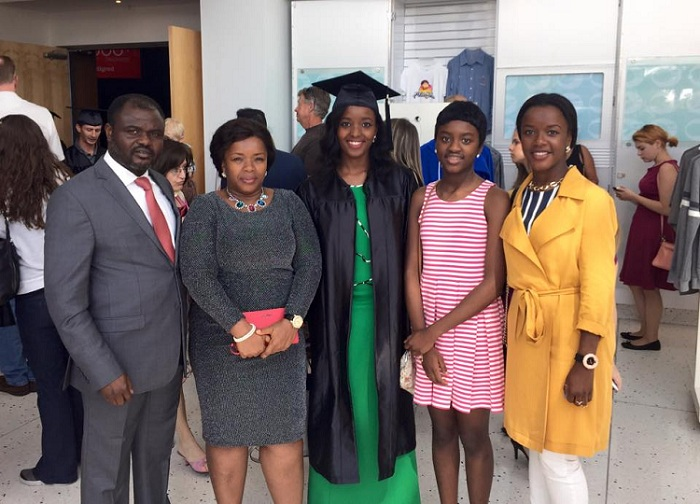 Dr. Abel Damina with his wife Dr. Rachel Damina and three daughters, Jemima, Jesimiel, and Jeiel.