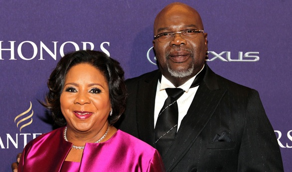 Bishop T.D Jakes with his wife Serita Jakes