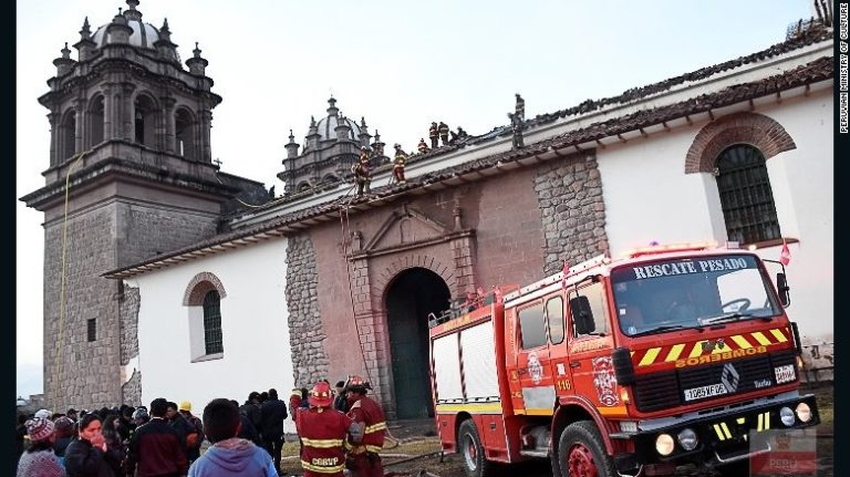 A $1.5 Million Renovated Church Destroyed by Fire in Peru