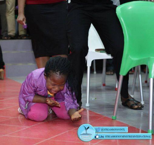 five year old samara in deep worship