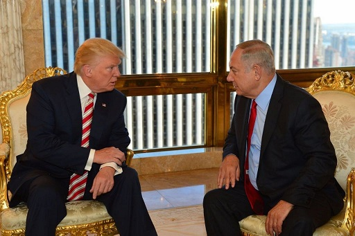 US President Elect Donal J. Trump and Israeli Prime Minister Benjamin Netanyahu