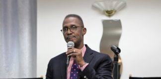 """Bishop Claude Alexander, senior pastor, The Park Church, Charlotte, North Carolina speaks at the """"National Conversation on Race"""" conference convened by Movement Day Global Cities at Bethel Gospel Assembly in New York City, New York on Monday October 24, 2016."""