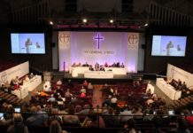 The Church of England's General Synod is its ruling body and sets its laws. It is unlikely any official change would pass synod but a form of 'accommodation' for gay relationships could be suggested.