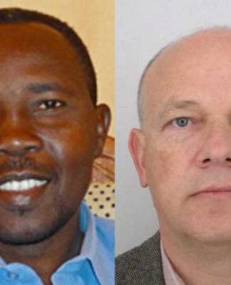 Pastor Hassan Taour (L) and Czech Christian aid worker, Petr Jasek (R).