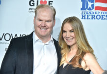 Comedian Jim Gaffigan And Wife
