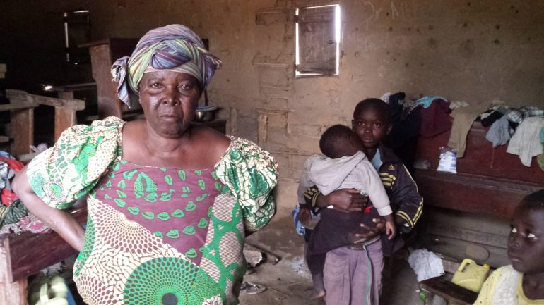 Marie lost her husband and her home, and now lives with other refugees in a small mud classroom in a school. (Photo: Open Doors International)