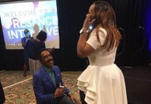 Pastor Russell Tomlinson proposes to Dr Cindy Trimm.