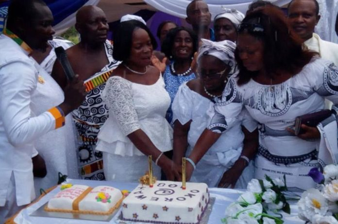 Madam Comfort Adwoa Okorewah, an Occult Priestess Turned Christian Celebrates 108th Birthday with Her 107 Children