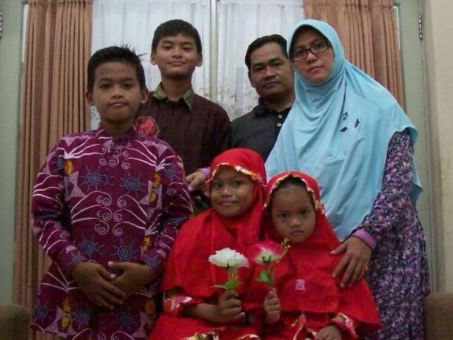 The family of suicide bombers who blew up three churches in Surabaya, Indonesia. Picture: Twitter/James Massola; Source:Twitter