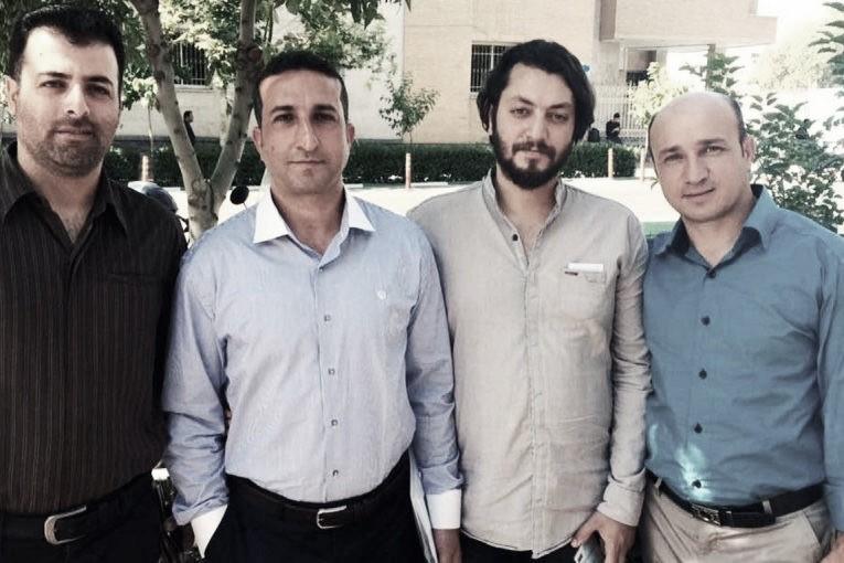 From left: Saheb Fadaie, Youcef Nadarkhani, Yasser Mossayebzadeh and Mohammad Reza Omidi.
