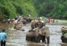 Kachin Christians escape with the help of elephants