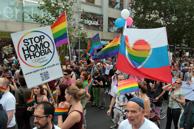 Gay Rights Supporters March