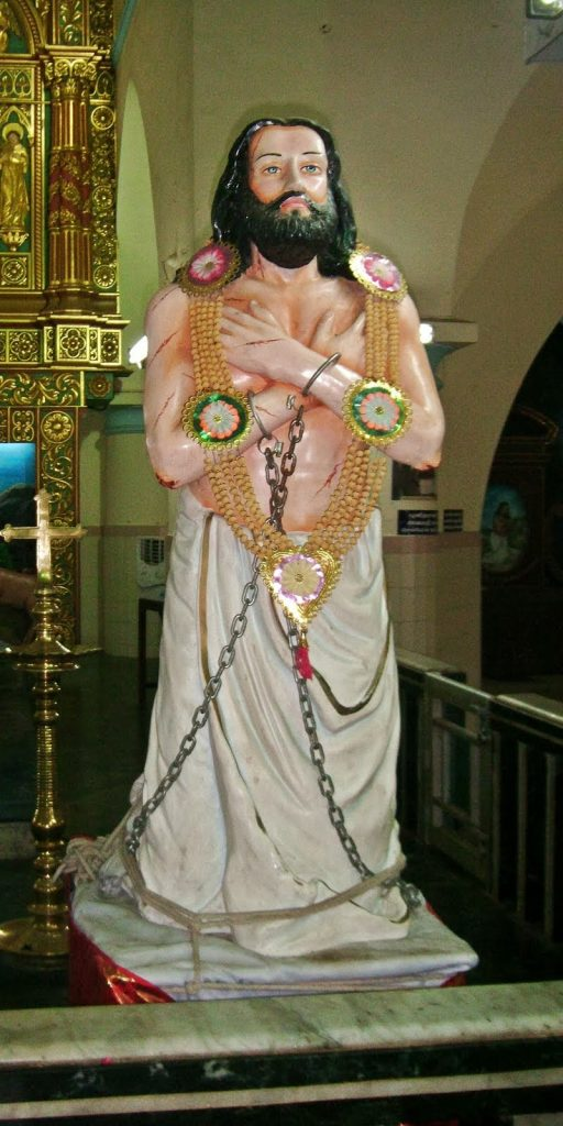 Devasahayam Pillai Statue in St.Xaviers Church, Kottar