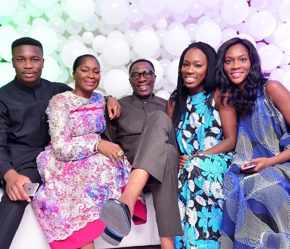 Pastor Tony Rapu of This Present House Church flanked by his wife, Nkoyo, their two daughters – Dr Uju Rapu, Barrister Kene Rapu and their son, Mr Tobe Rapu