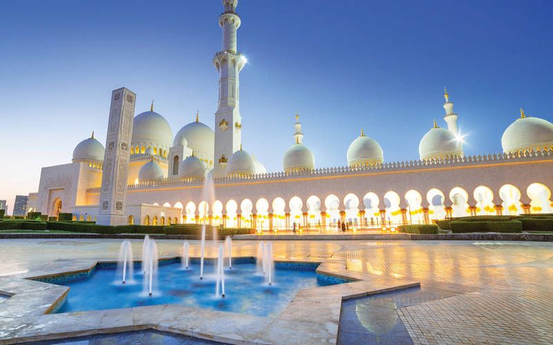 Outside view of Sheikh Zayed Grand Mosque, now renamed Mary Mother of Jesus Mosque
