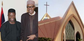 Leaky Roof Stops President Buhari's Inauguration Service At National Christian Centre