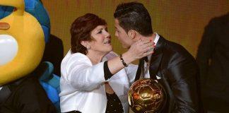 Cristiano Ronaldo and His mother