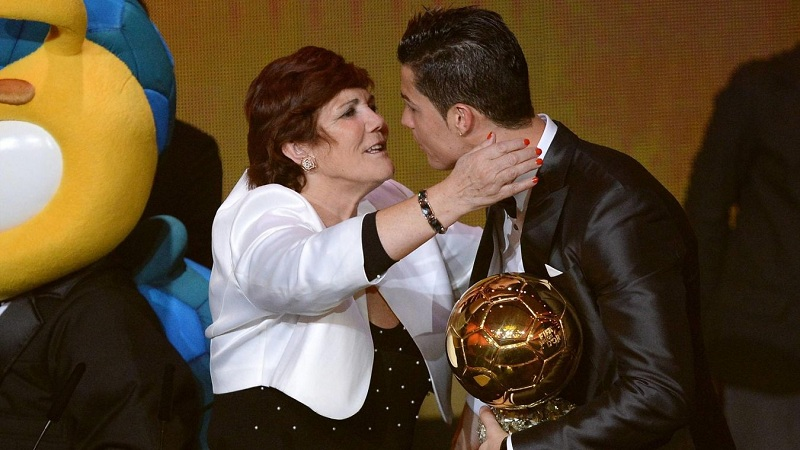 Cristiano Ronaldo and His mother