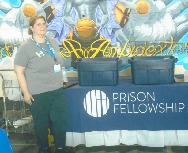 "Prison Fellowship Senior Director of Programs and Special Events Jennifer Lowrey poses for a photograph while participating in a ""Hope Event"" held at Rikers Island in New York City on July 3, 2019."