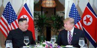 U.S. President Donald Trump With North Korea's Leader Kim Jung-Un