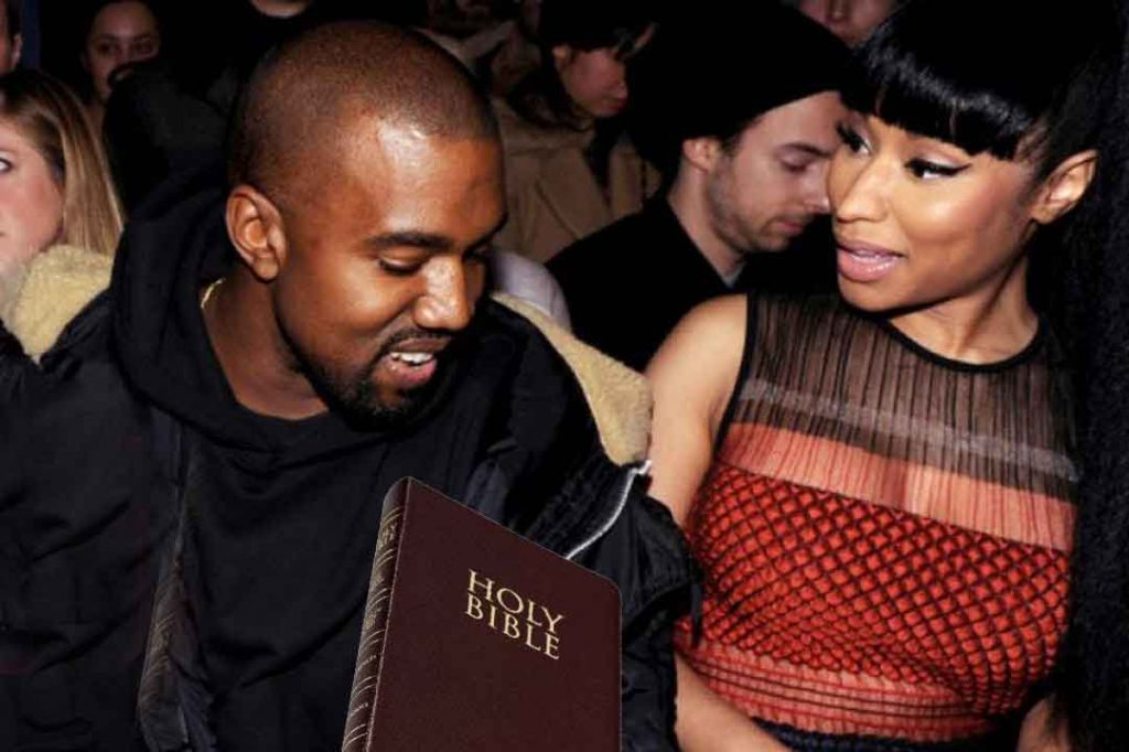 "Kanye West Tells Nicki Minaj, ""I'm Now A Born-again Christian"""