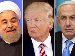 Iranian President Hassan Rouhani, US President Donald Trump and Israeli Prime Minister Benjamin Netanyahu