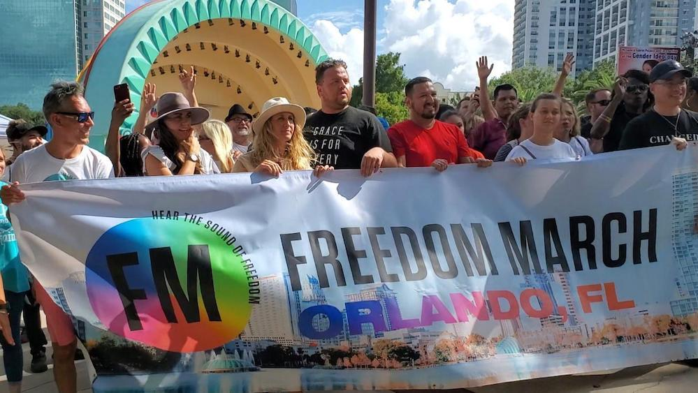 Freedom March held at Lake Eola Park in Orlando, Florida, on Sept. 14, 2019