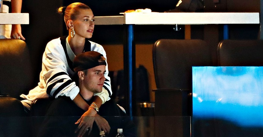 Justin Bieber with his wife, Hailey Rhode Bieber