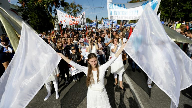 50,000 Christians March Against Abortion In Slovakia