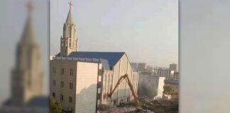 Chinese Govt. Demolishes 3,000-Seat Megachurch