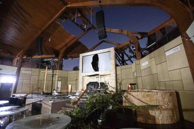 Cross Still Standing After Tornado Destroys Texas Church