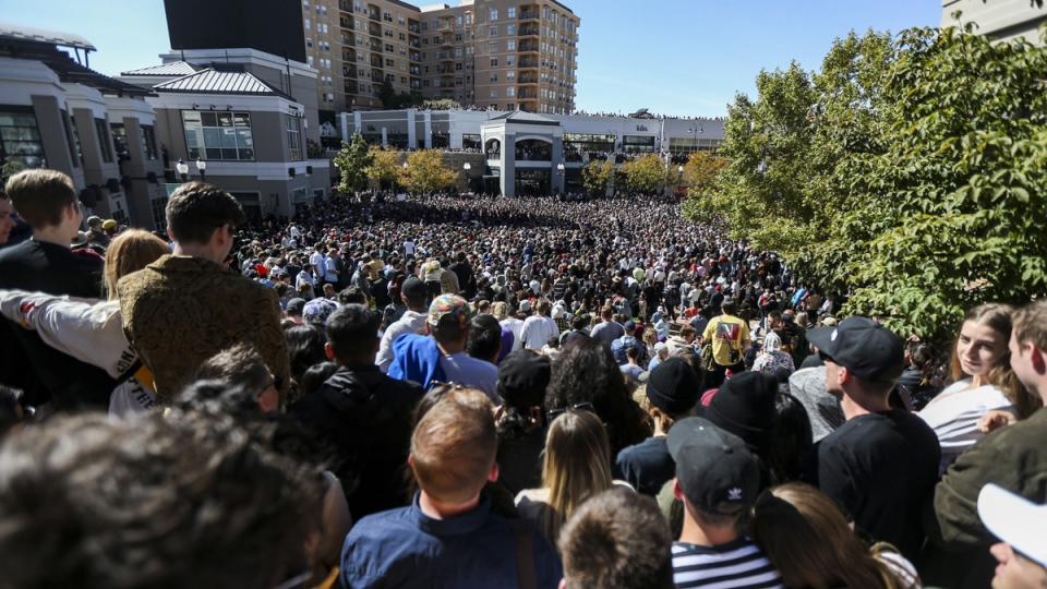 Kanye West Holds Open Air Sunday Service At Salt Lake City outside of Gateway