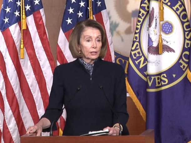 'I Pray for the President All the Time,' Nancy Pelosi Says