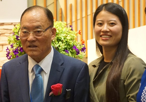 Pastor John Yoon with Grace Jo, whom he helped to defect from North Korea.