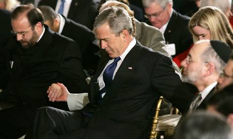 Former U.S. President George W. Bush Praying with Jews