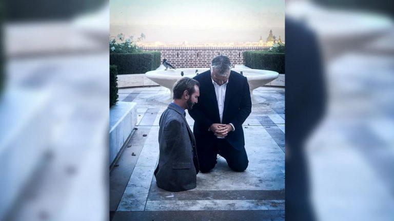 Hungary's Prime Minister Posts Photo Of Nick Vujicic And Himself Praying