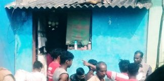 Tribal animists shout at pastor Bibudhan Pradhan in Perigaon village, Odisha state, India, on Dec. 1, 2019. (Morning Star News)