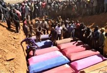 Burial for victims of Muslim Fulani herdsmen attacks near Bokkos, Nigeria