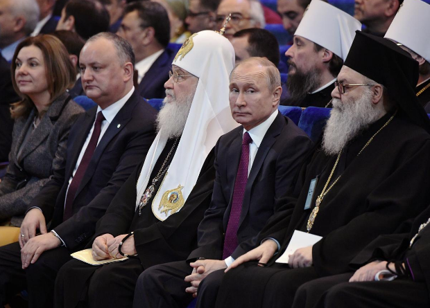 Russian President Vladimir Putin in Church