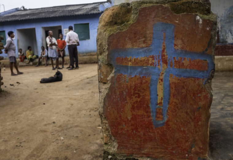Indian Police Beat Christians, Force Them To Pose Like Jesus On The Cross While Mocking Jesus