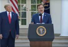 My Pillow CEO, Mike Lindell with President Trump