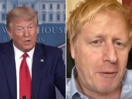 US President Donald Trump and and UK Prime Minister Boris Johnson