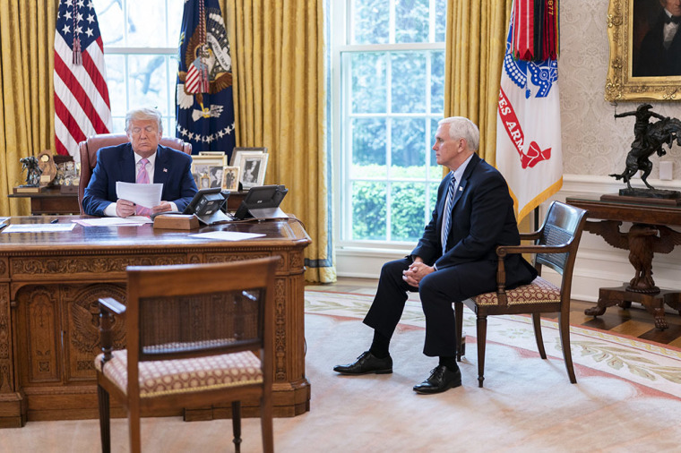 United States President Donald J. Trump with Vice President Mike Pence