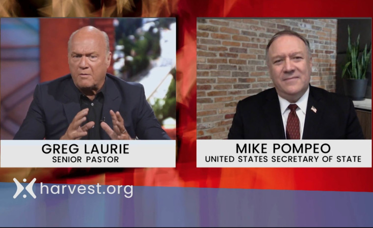 Pastor Greg Laurie interviews U.S. Secretary of State Mike Pompeo