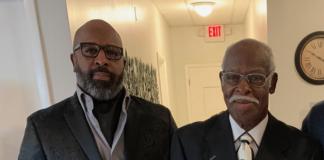 The Rev. Nathaniel Slappey Sr. and his son, Nathaniel Slappey Jr.