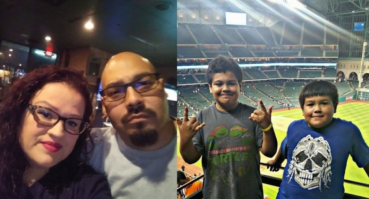 The late couple, Carlos Garcia, 44, and his wife Naomi Esquivel, 39, (L) died just two weeks apart leaving behind their sons, (R) Isaiah, 14, and Nathan, 11.