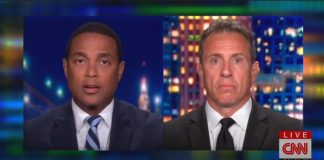 "CNN host Don Lemon (Left) talks with Chris Cuomo (Right) on a July 2020 episode of ""CNN Tonight."""