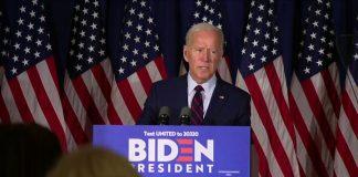Democrat presidential hopeful Joe Biden